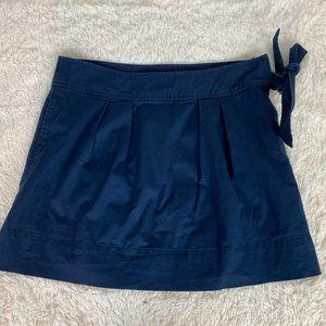 Vineyard Vines Navy Blue Pleated Side Bow Skirt